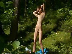masturbating pussy in the forest