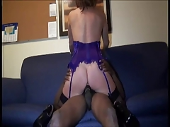 Busty MILF gets fucked & facialed by BBC