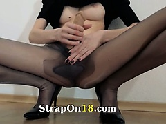 Hot 21yo girl teasing in front of mirorr